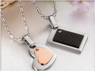 kalung couple titanium korea
