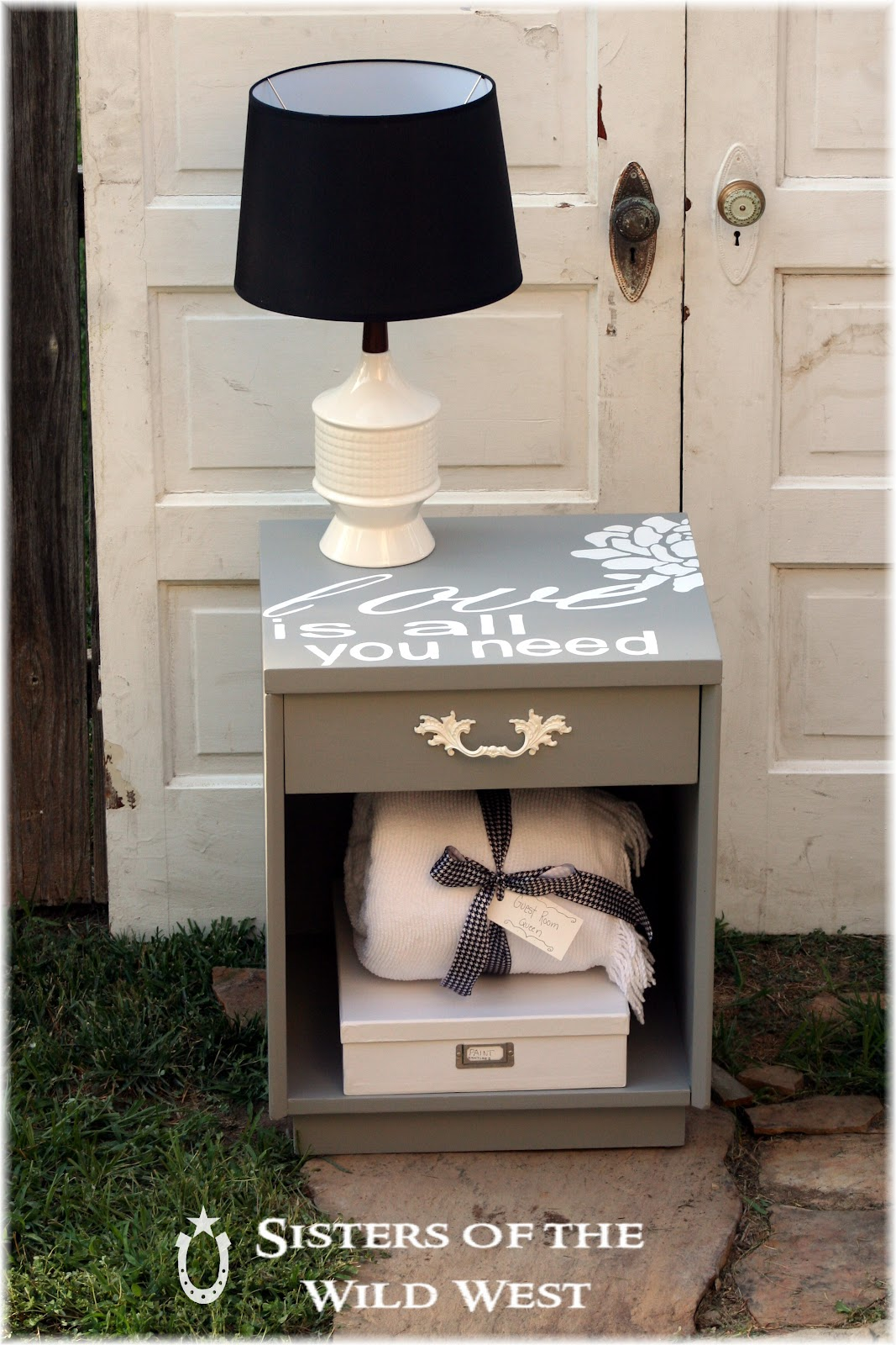 sisters of the wild west nightstand makeover