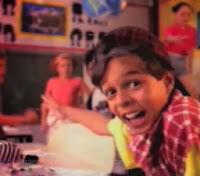 Propaganda do Chokito em 1997. Pierre Bitencourt e outras crianças (Nestlé).