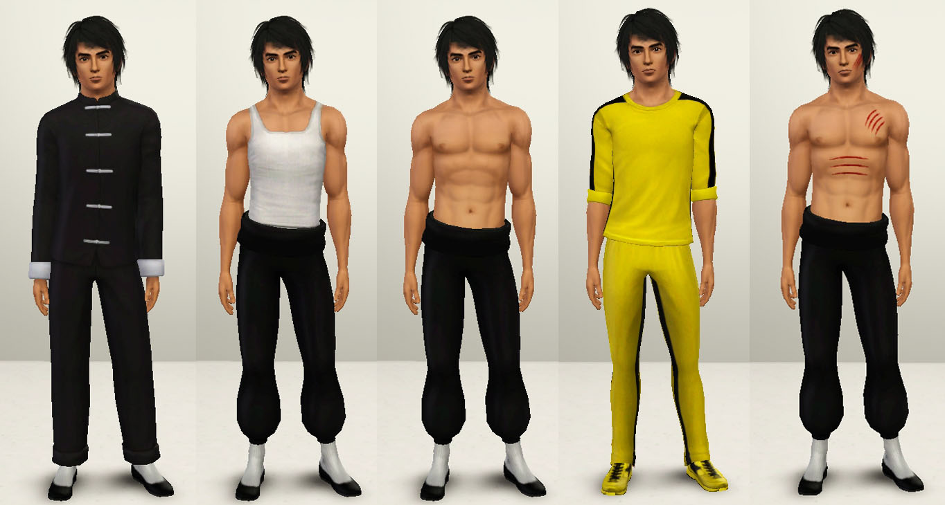 My Sims 3 Blog Bruce Lee Sim Jeet Kune Do Poses By Sil