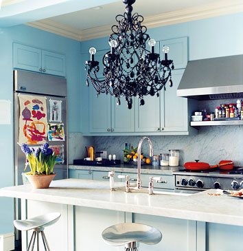 Blue not your color? Check out other kitchens in brown red orange yellow