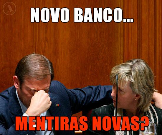 Foto de Passo Coelho com a Maria Luís Albuquerque  – Banco Novo… Mentiras Novas!