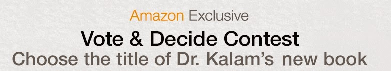 Vote to decide the title of Kalam's Book + Win prizes