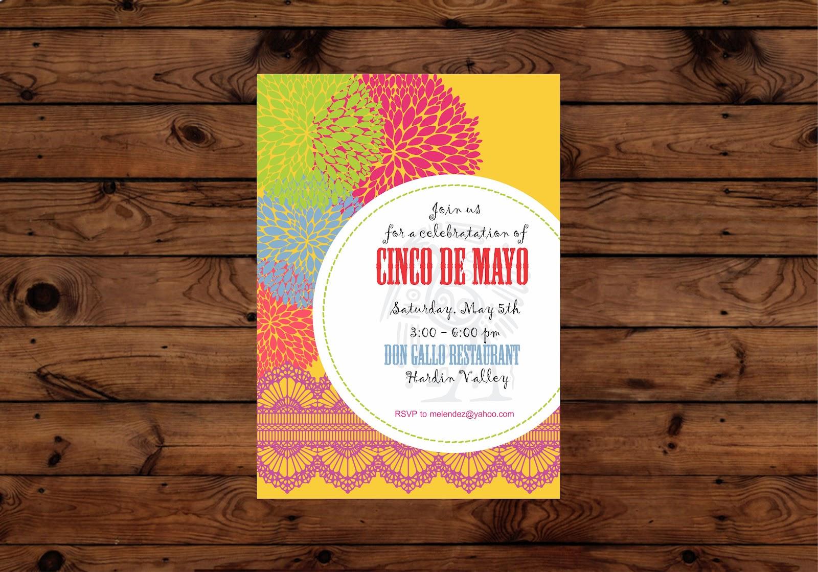 Free Printable CInco de Mayo Invite