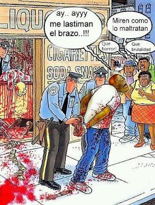 Maltrato policial - Humor