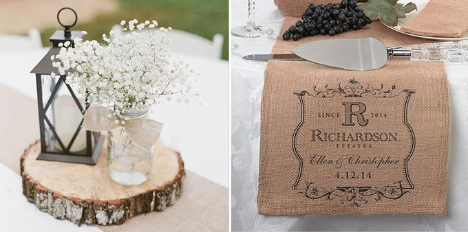 Burlap table decorations images Burlap bag decorating ideas
