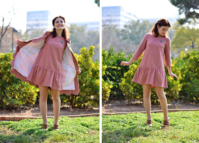 pink babydoll dress pauline alice