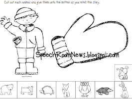 Mitten Coloring Page For Preschool