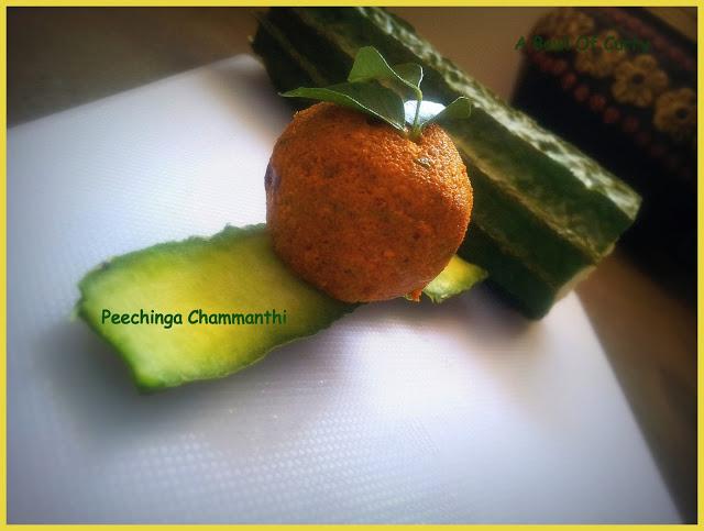 Peechinga(Ridge Gourd/Pottikka) Chammanthi
