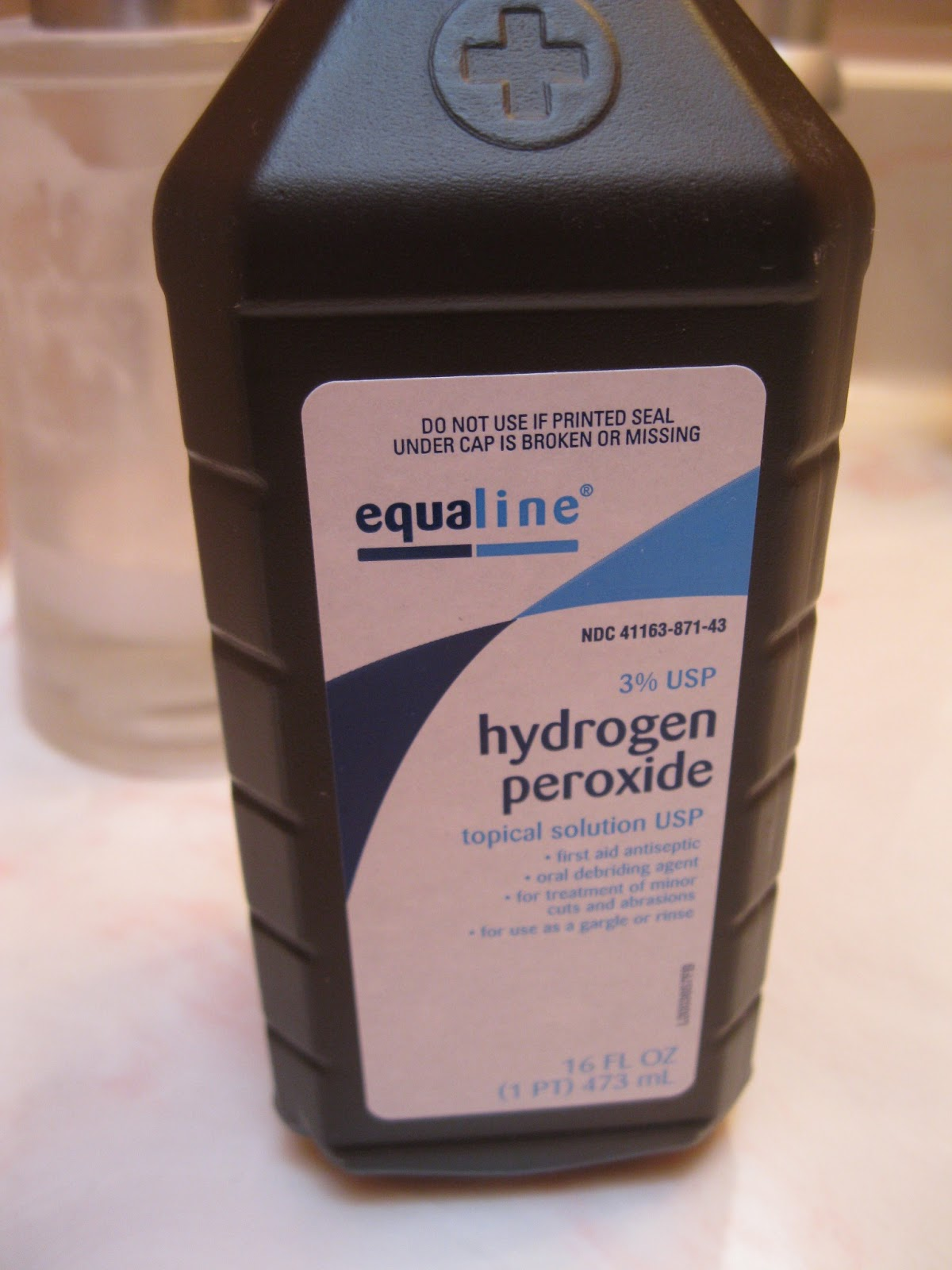 cleaning earrings with hydrogen peroxide