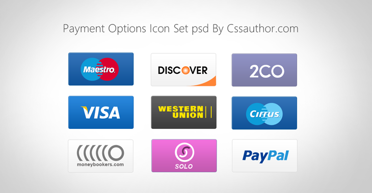 Free Payment Options Icon Set