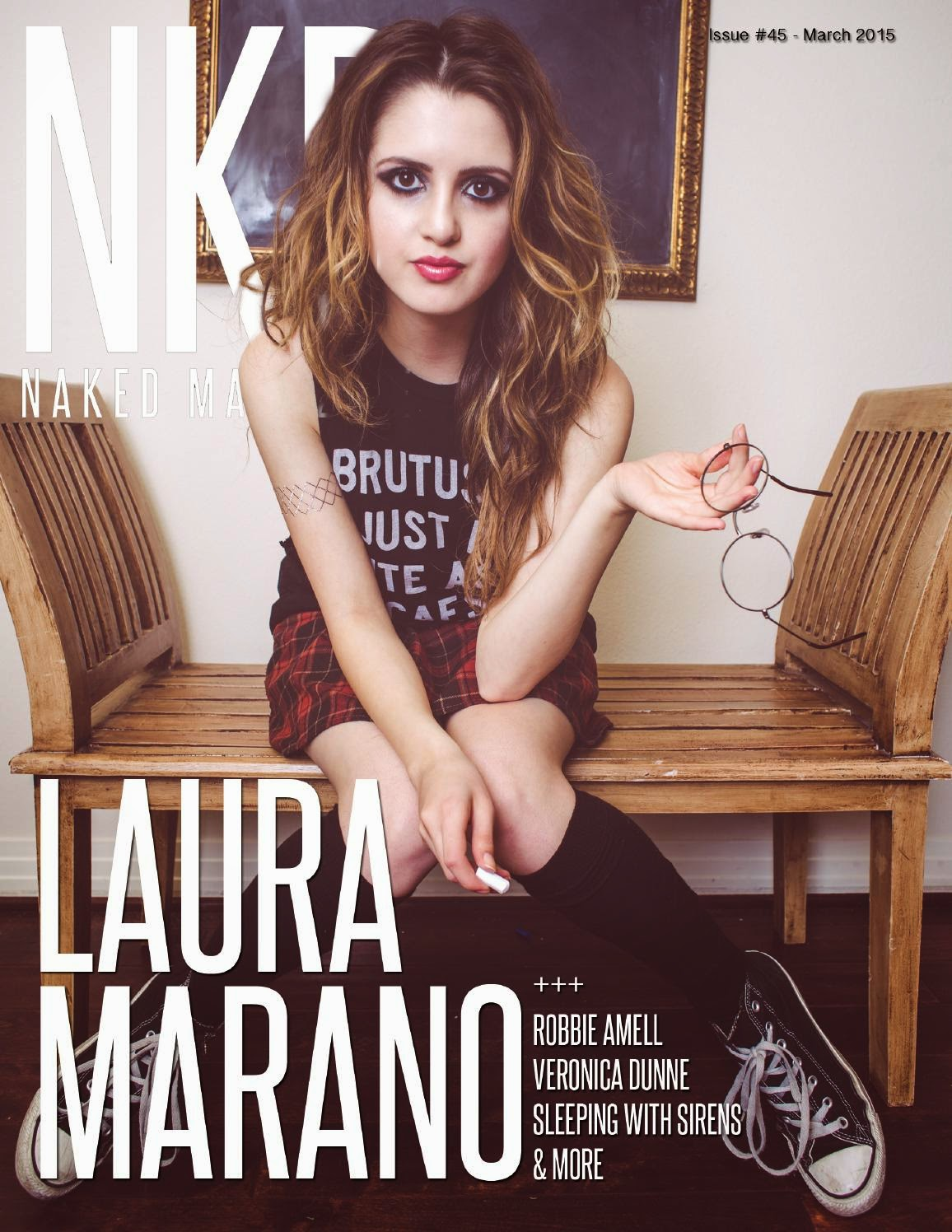 Actress, Singer: Laura Marano - NKD Magazine March 2015