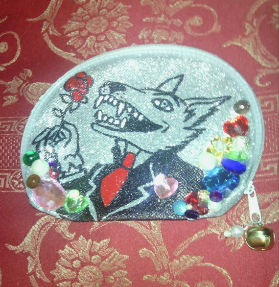 Meat Cake Wax Wolf Character Make Up Bag