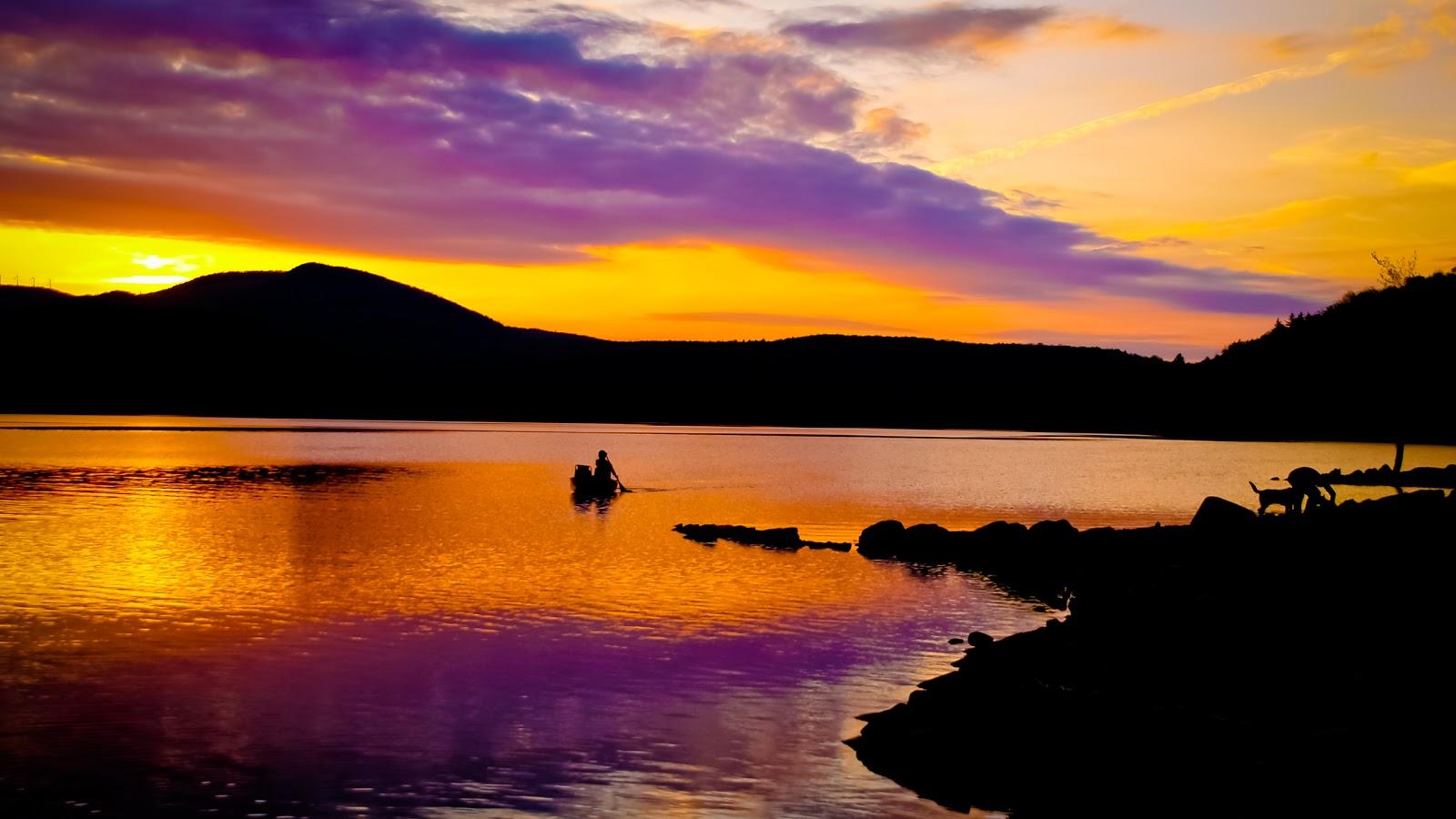 Yellowish Sunset Wallpaper, Beautiful Sunset Wallpaper, Sunset Wallpaper