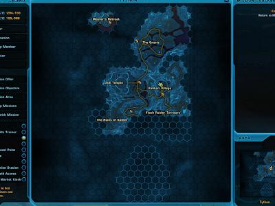 SWTOR - Tython Map