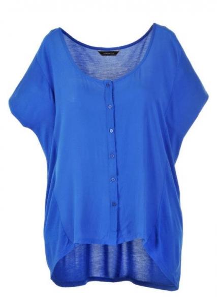 Blusa+azul+Preta+Gil Plus Size fashion style a la PRETA GIL
