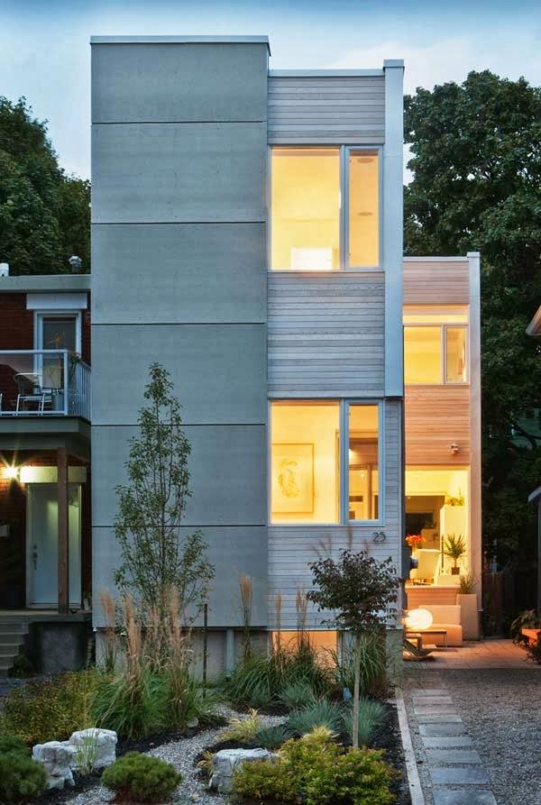 gambar rumah modern minimalis 2 lantai dikombinasikan