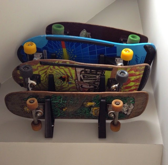 skateboard wall storage rack