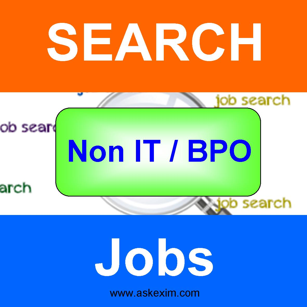 Search Non IT / BPO Jobs