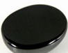 Cubic-zirconia-Black-Cabochon-Bead