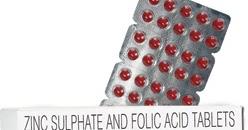 New Medicine Book Zinc Sulfate Folic Acid Tablets Folinz