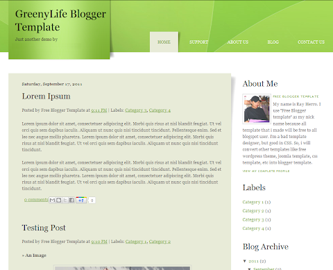 GreenyLife Blogger Theme