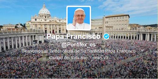 Twitter del Papa en español
