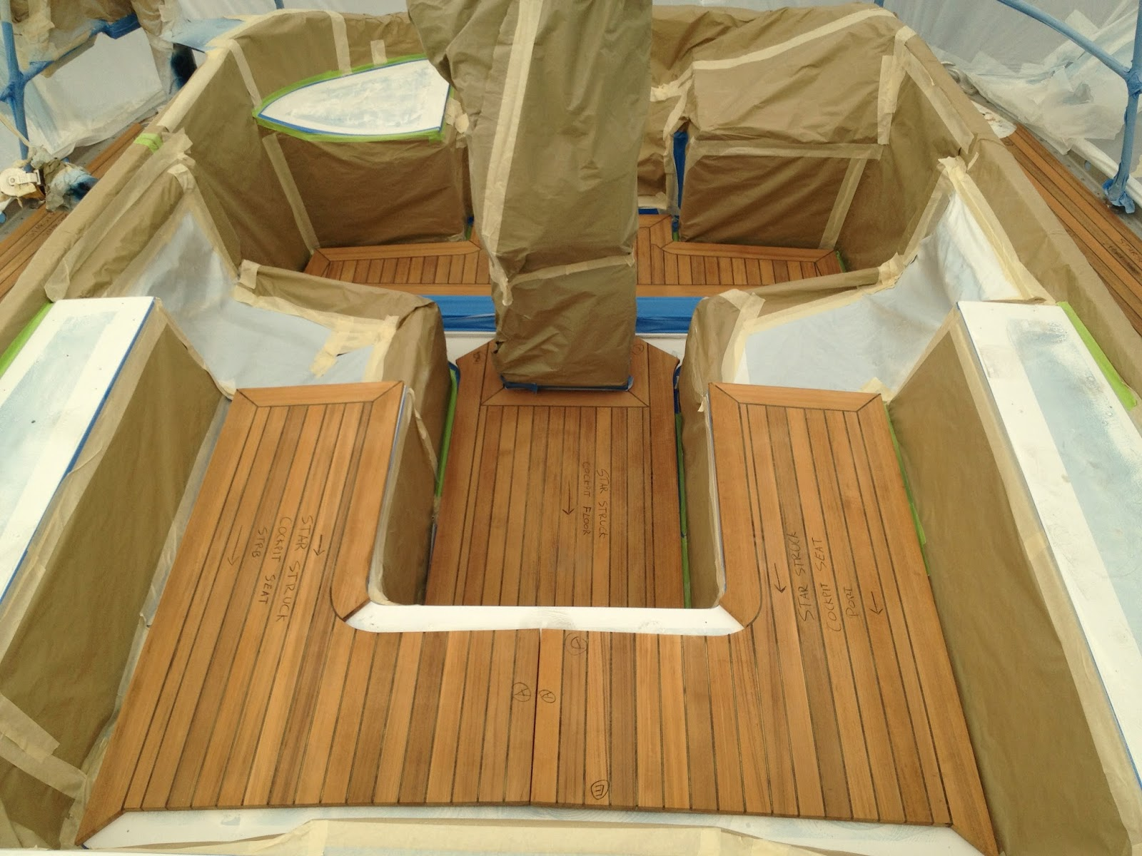 How to install a teak deck from ideal sand