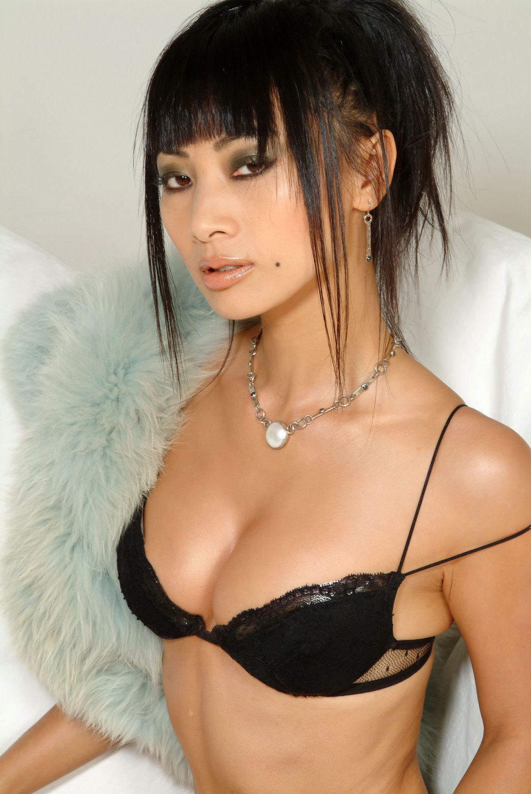 Asain Actresses Bai Ling Cleavage Show Asian Actresses