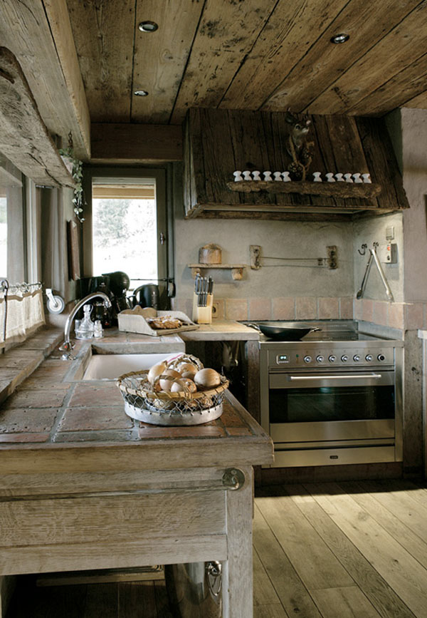 Rustik chateaux la casa rustica de un artista belga - Tablones de roble ...