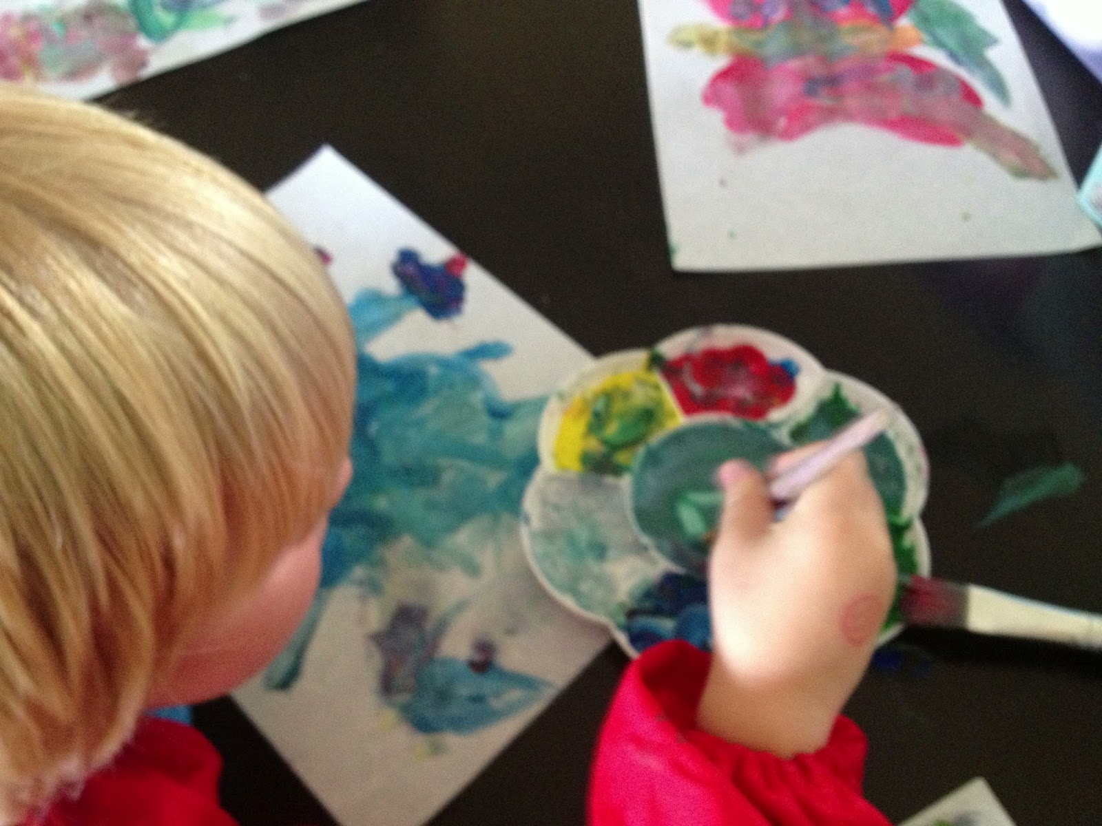 painting with young chidren