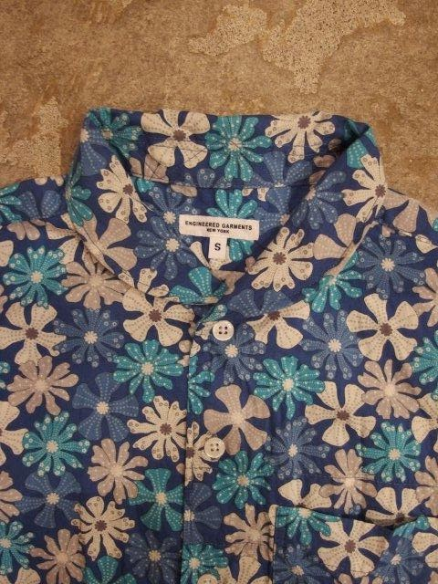Engineered Garments Lafayette Shirt in Lt.Blue Big Floral Print Spring/Summer 2014 SUNRISE MARKET