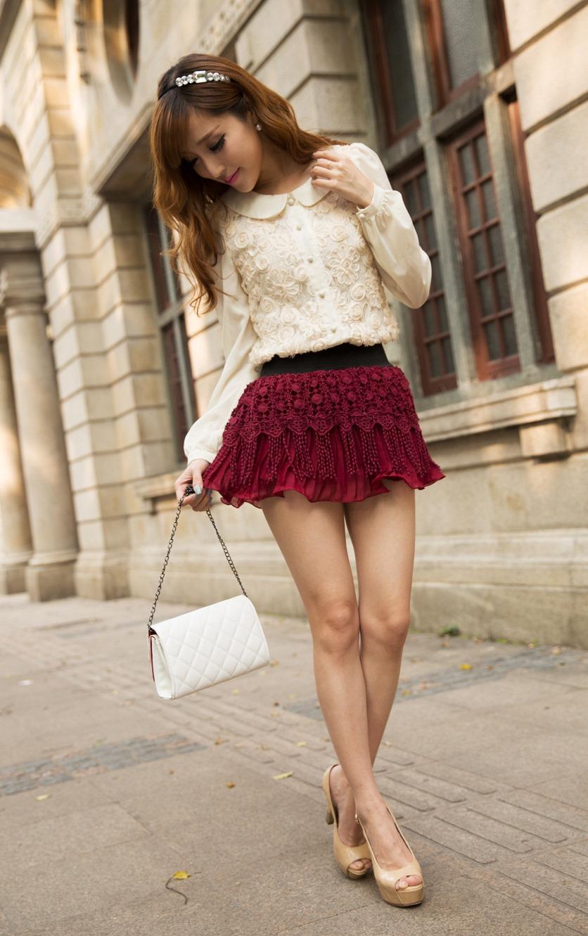 Micro mini skirt fashion show 32