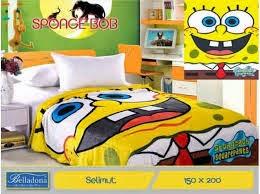 Jual Selimut belladona sutra panel spongebob