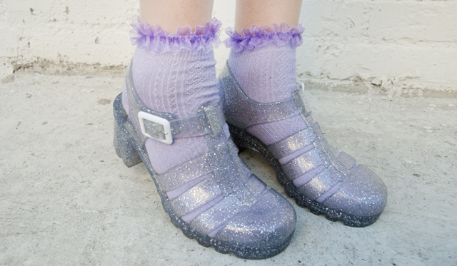 juju, jelly, shoes, frilled socks