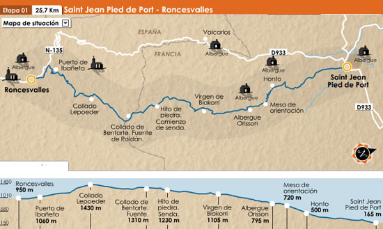 Vengoportodalaorilla corriendo por elvira roda primera y - St jean pied de port to roncesvalles ...
