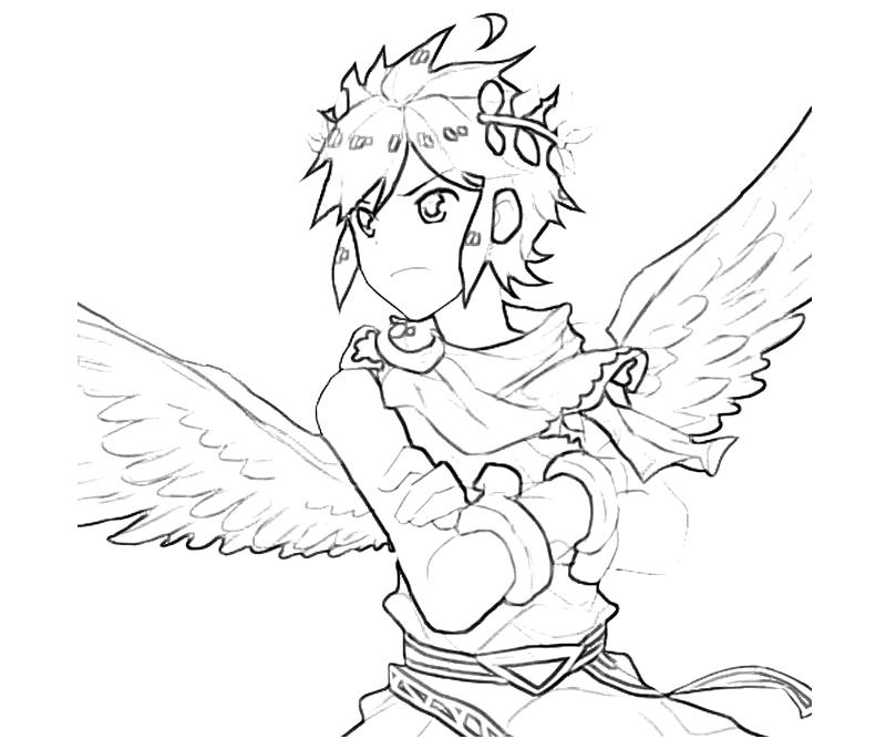 Kid Icarus Dark Pit Angel Coloring Pages