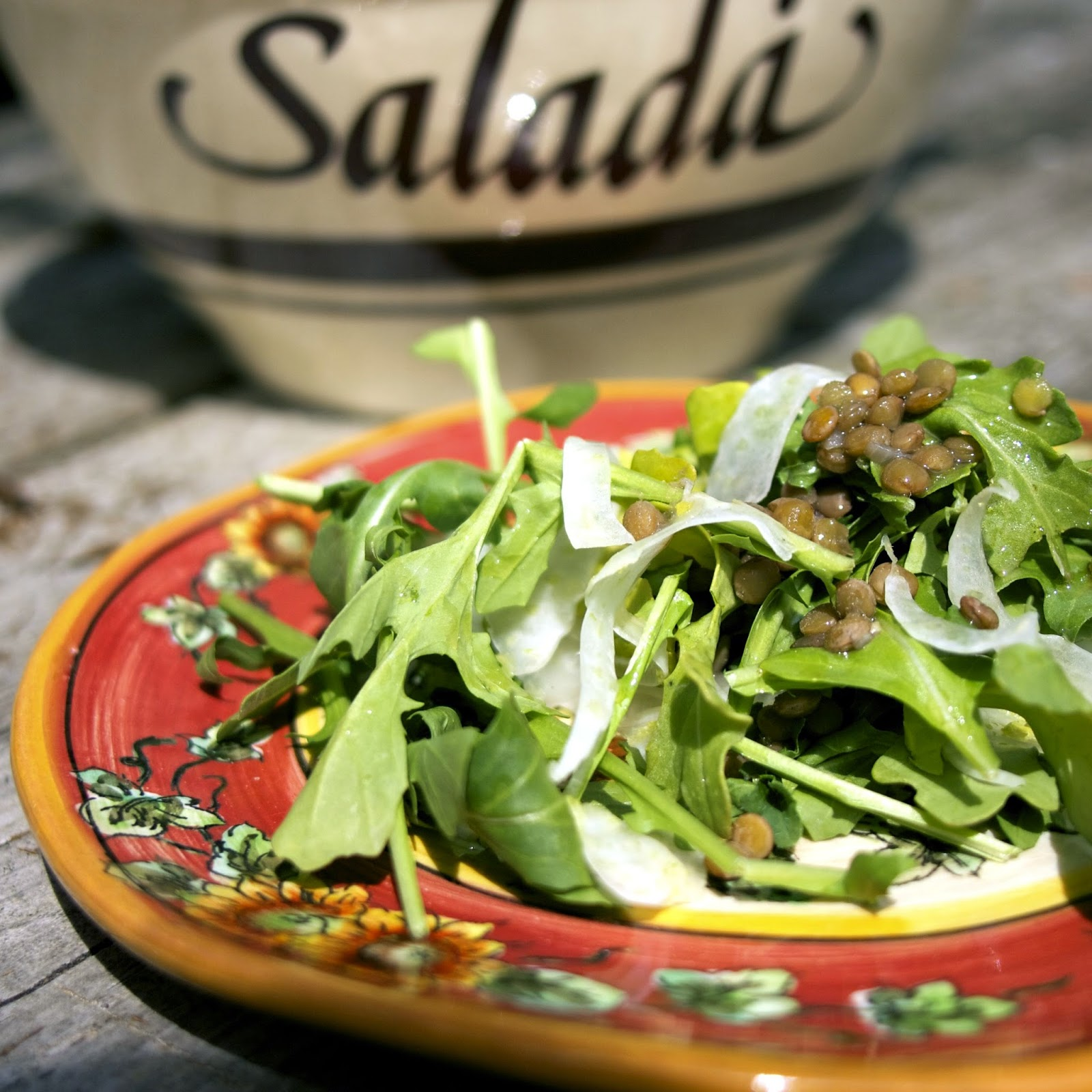 Arugula, Fennel & Green Lentil Salad: simplelivingeating.com