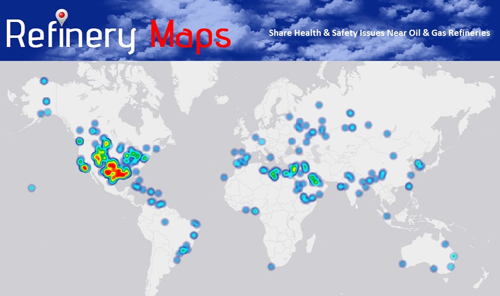 Heat Map Of Oil And Gas Refineries Around The World