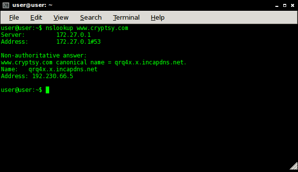 How To Find A Website's IP via command line