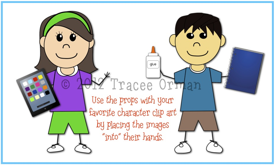 Mrs Ormans Classroom Cute School Supplies Clip Art For Commercial Use