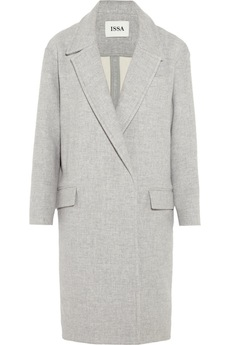 ISSA Robin oversized wool-blend coat