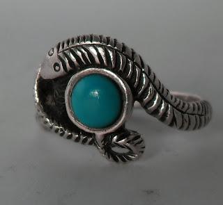 Sterling silver snake ring / Anillo serpiente de plata de ley