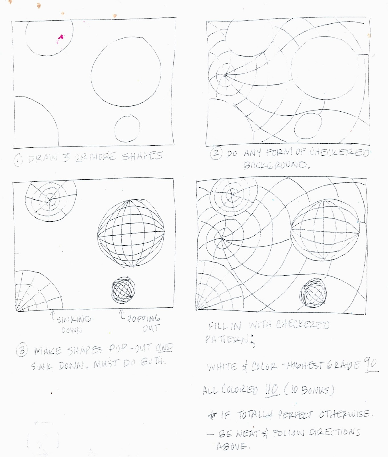 The Lost Sock Op Art – Op Art Worksheet