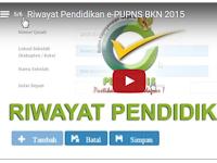 Video Tutorial Mengisi Riwayat Pendidikan e-PUPNS BKN 2015
