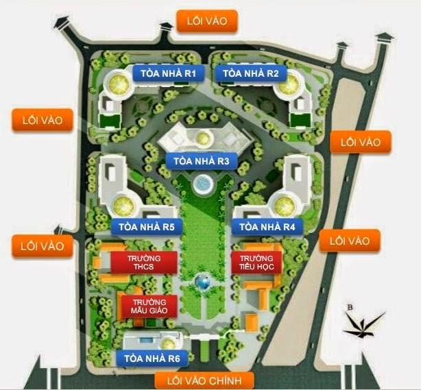Phối cảnh tổng quan dự án khu đô thị chung cư Royal City