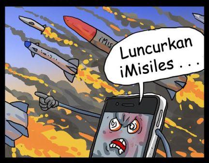 komik lucu perang smartphone