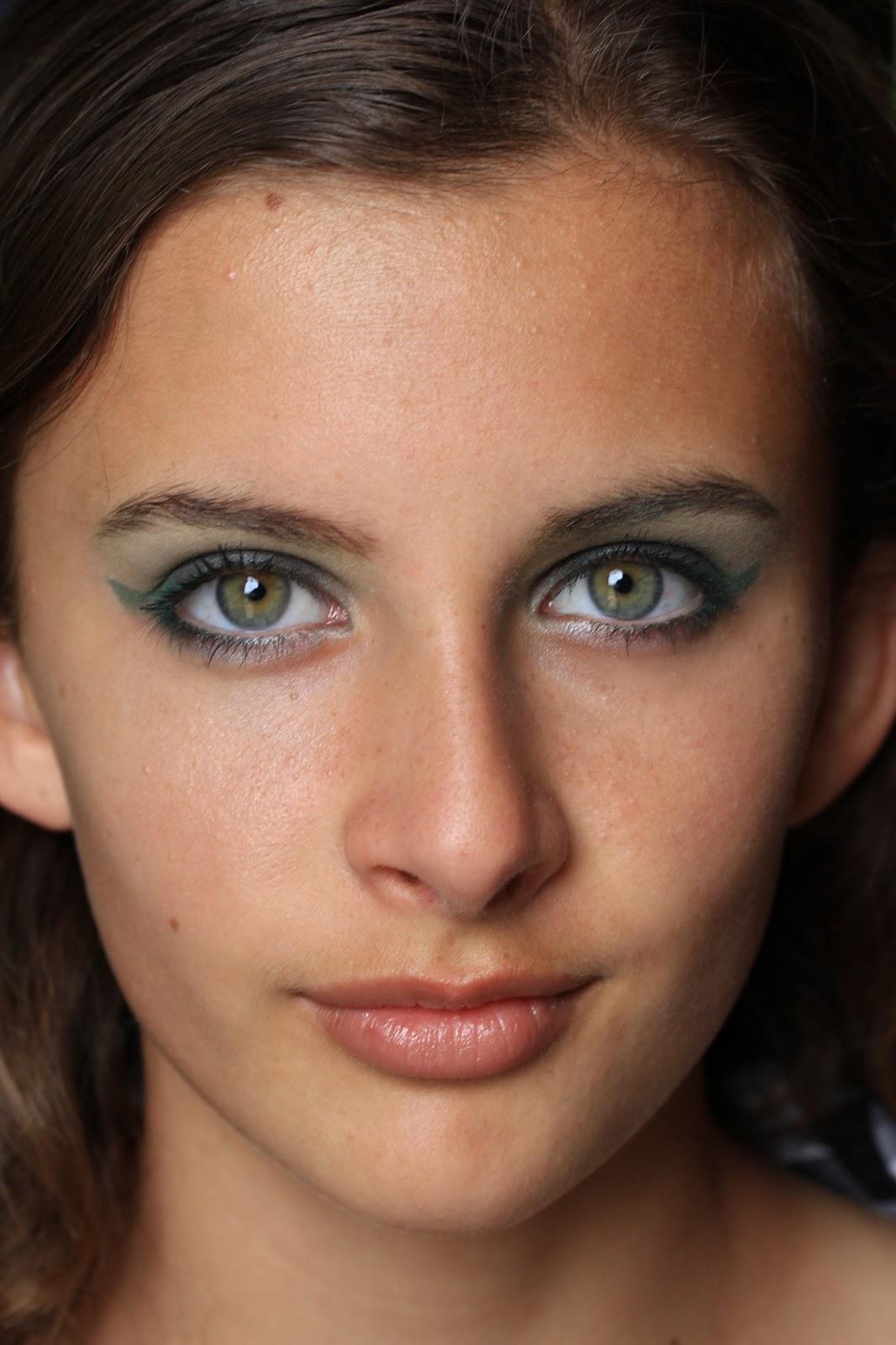 Макияж для глаз с зелеными тенями пошаговое