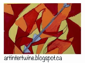 Art Intertwine - Cubist Guitar Art Lesson