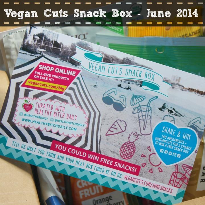 Vegan Cuts Snack Box June 2014 Review